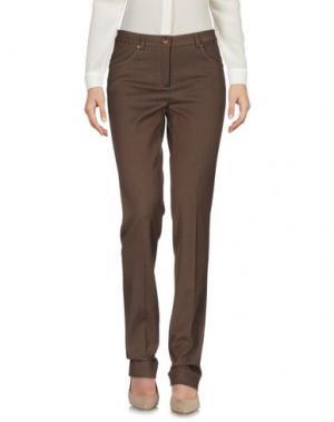 Повседневные брюки L.P. di L. PUCCI. Цвет: коричневый