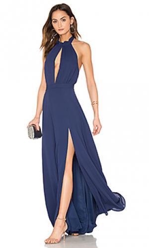 Макси платье starlet Yumi Kim. Цвет: синий