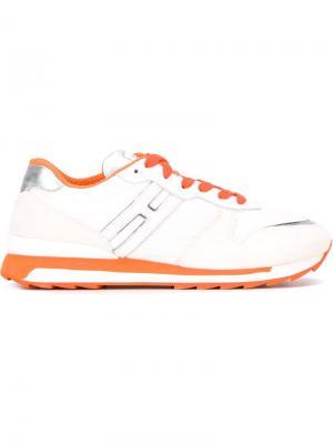 Кроссовки с панельным дизайном Hogan Rebel. Цвет: белый