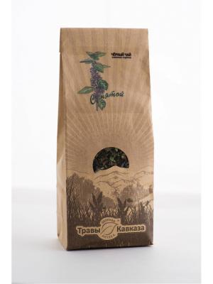 Чай черный с мятой Травы Кавказа. Цвет: зеленый