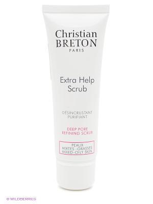 Скраб для глубокого очищения кожи Экстра чистота 50 мл. Christian Breton Paris. Цвет: белый
