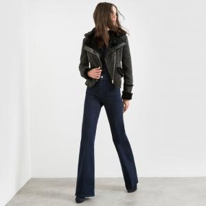 Блузон в байкерском стиле, на молнии, с карманами MOLLY BRACKEN. Цвет: черный
