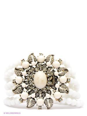 Браслет Art Silver. Цвет: белый, бронзовый