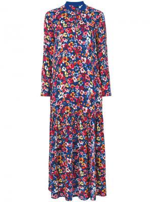 Длинное платье с цветочным принтом Love Moschino. Цвет: многоцветный