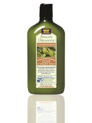 Кондиционер с маслом оливы и виноградных косточек, 325 мл Avalon Organics. Цвет: белый
