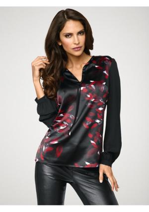 Блузка Ashley Brooke. Цвет: черный/красный