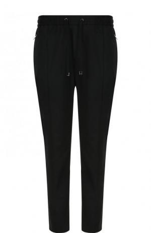 Хлопковые брюки прямого кроя с поясом на кулиске Dolce & Gabbana. Цвет: черный