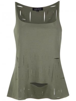 Thin straps top Gloria Coelho. Цвет: зелёный