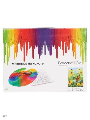 Живопись на холсте 30х40 см. Цветочная поляна (153-AS) Белоснежка. Цвет: белый