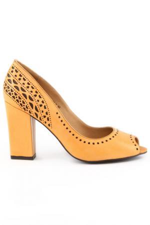 Туфли Michele. Цвет: оранжевый