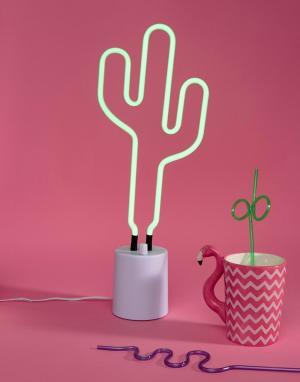 Sunnylife Большой неоновый светильник в виде кактуса. Цвет: мульти