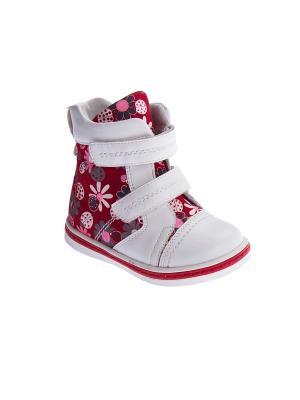 Ботинки PlayToday. Цвет: белый, красный