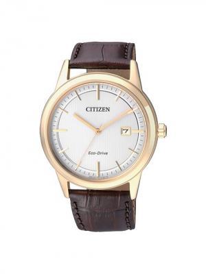 Часы AW1233-01A CITIZEN. Цвет: темно-коричневый, золотистый