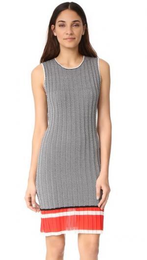 Платье с шевронным рисунком Grey Jason Wu. Цвет: черный/белый