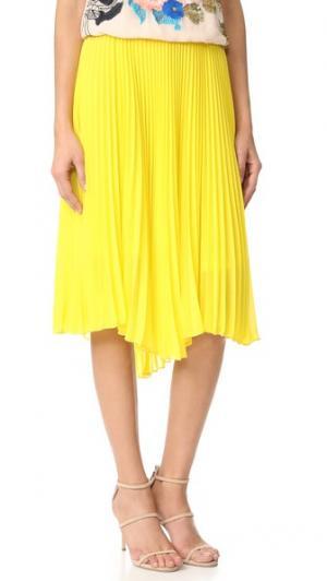 Плиссированная юбка Loyd/Ford. Цвет: желтый