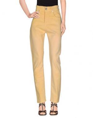 Джинсовые брюки RA-RE. Цвет: желтый