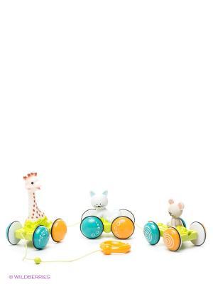 Игрушка Жирафик Софи гуляет с друзьями Sophie la girafe. Цвет: белый