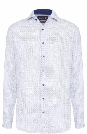 Льняная рубашка с принтом Jacques Britt. Цвет: белый