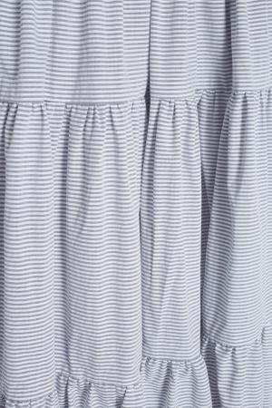 Хлопковое платье VIKTORIA IRBAIEVA. Цвет: серый
