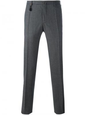 Классические брюки Incotex. Цвет: серый