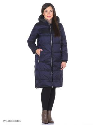 Пуховик пальто COLD WIND IS MIRAGE. Цвет: синий