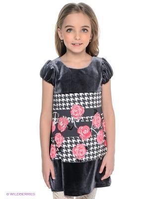 Платье Wojcik. Цвет: темно-серый, красный, белый