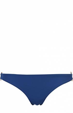 Плавки-бикини с декоративной отделкой Heidi Klein. Цвет: синий