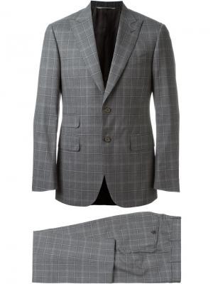 Строгий костюм Canali. Цвет: серый