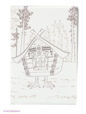 Визитница Избушка на курьих ножках Mitya Veselkov. Цвет: белый, серый