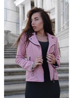 Куртка-косуха RADOST. Цвет: розовый