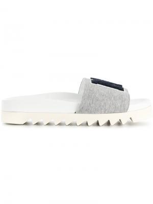 NY jersey slippers Joshua Sanders. Цвет: серый