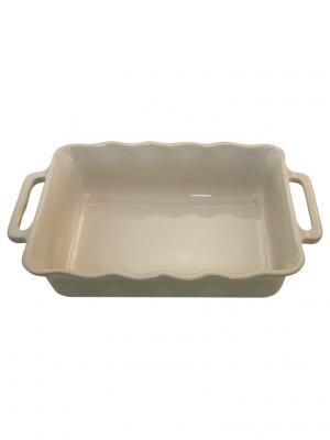 Прямоугольное блюдо 30 см 1,8 л Appolia. Цвет: кремовый
