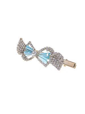 Заколка Migura. Цвет: золотистый, голубой, серебристый
