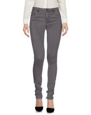 Повседневные брюки JACQUELINE de YONG. Цвет: свинцово-серый