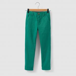 Брюки-чино, 3-12 лет R essentiel. Цвет: голубой,зеленый,темно-бежевый
