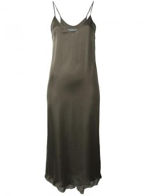 Платье-комбинация Raquel Allegra. Цвет: зелёный