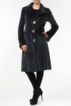 Пальто из норки стриженной Rindi. Цвет: серый
