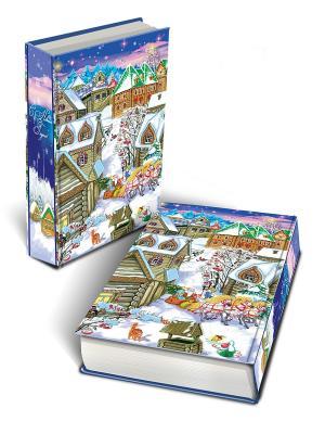 Декоративная шкатулка Снежный город (17*11*5см, из МДФ) Magic Time. Цвет: синий