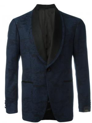 Пиджак с цветочной вышивкой Gabriele Pasini. Цвет: синий