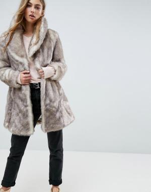 Unreal Fur Пальто Elixir. Цвет: бежевый