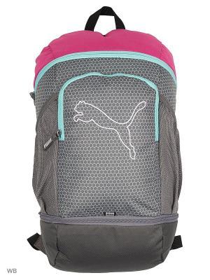 Рюкзак PUMA Echo Backpack. Цвет: темно-серый, сиреневый