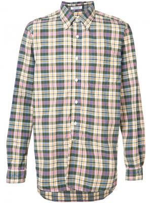 Рубашка в клетку Engineered Garments. Цвет: зелёный