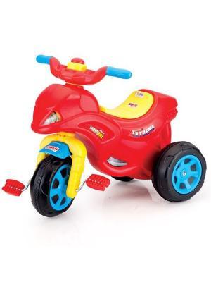 Трехколесный велосипед в виде мотоцикла DOLU. Цвет: красный