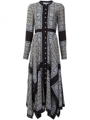 Платье-рубашка с принтом пейсли Altuzarra. Цвет: чёрный
