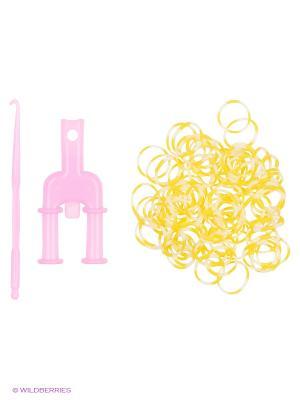 Набор для плетения Loom Bands. Цвет: белый, желтый
