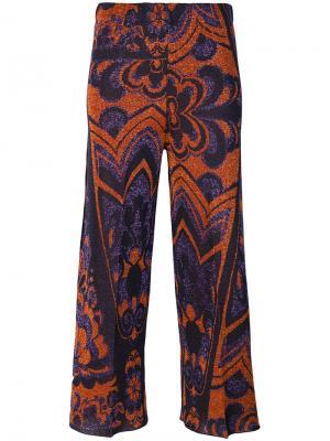 Укороченные брюки с принтом Circus Hotel. Цвет: розовый и фиолетовый