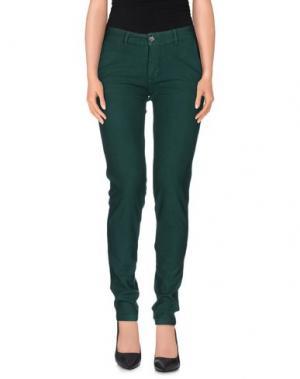Повседневные брюки PRAIO. Цвет: темно-зеленый