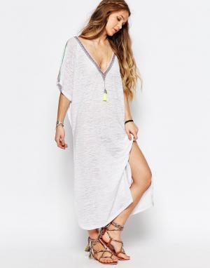 Pitusa Пляжное платье. Цвет: белый