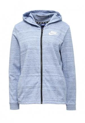 Толстовка Nike. Цвет: голубой