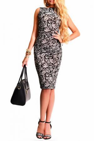 Платье LASKANY collezioni. Цвет: хризантема, черный
